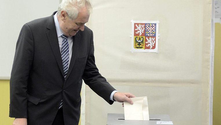 Milos Zeman van de sociaaldemocratische CSSD Beeld ANP