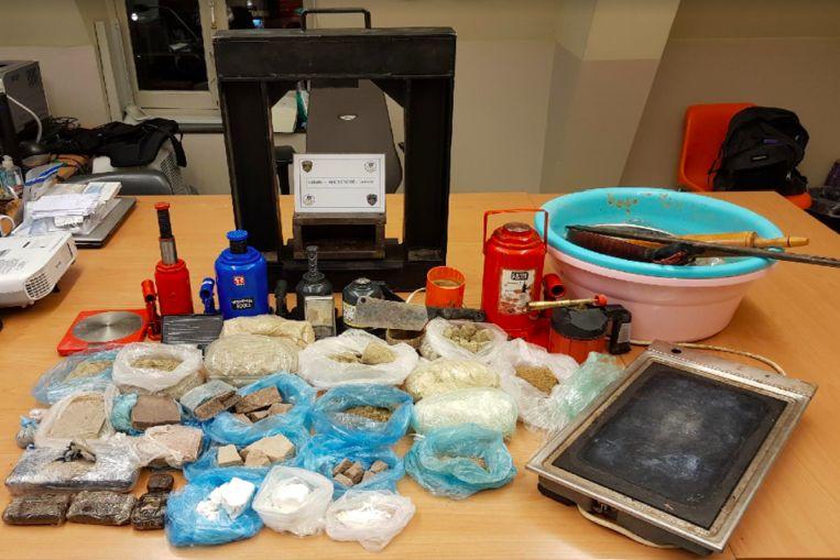 7,5 kilogram drugs in Laken.