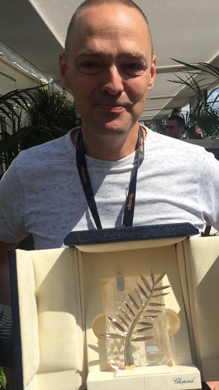 Jan Pieter Ekker met de Gouden Palm Beeld .