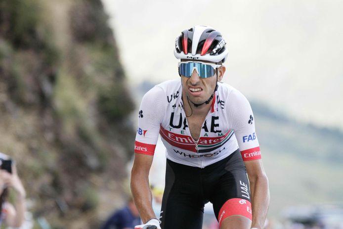 Fabio Aru tijdens de Tour de France.