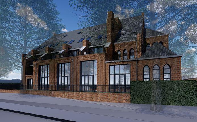 Het ontwerp voor de woningen in de Antoniuskerk in Valkenswaard.