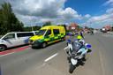 Verschillende politieploegen kwamen ter plaatse om het verkeer aan de op- en afrit van de E40 in Erpe-Mere richting Brussel te regelen.