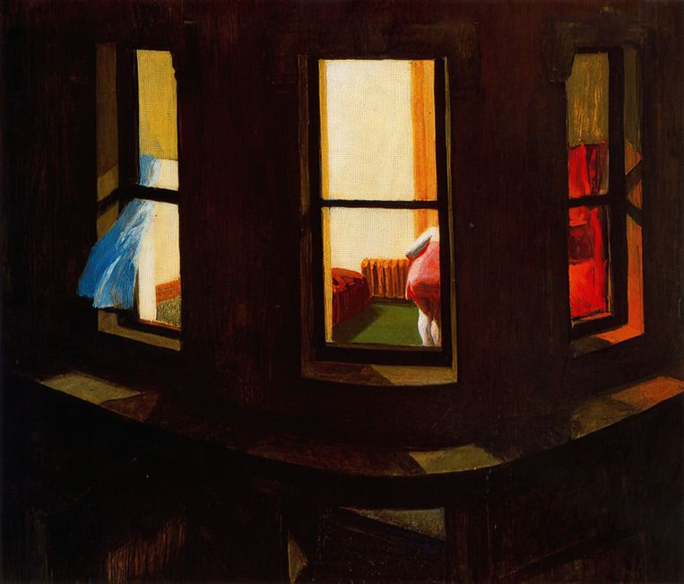 Edward Hopper:  Night Windows (1928). Beeld Alamy Stock Photo