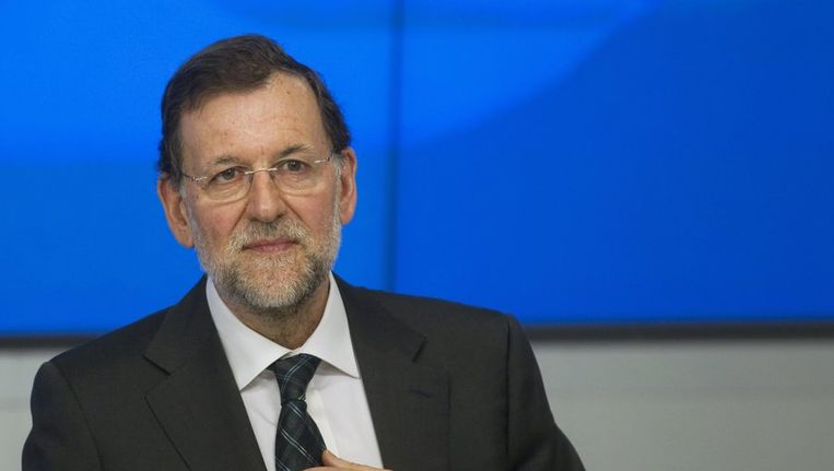 Premier Rajoy krijgt af te rekenen met opstandige regio's. Beeld REUTERS