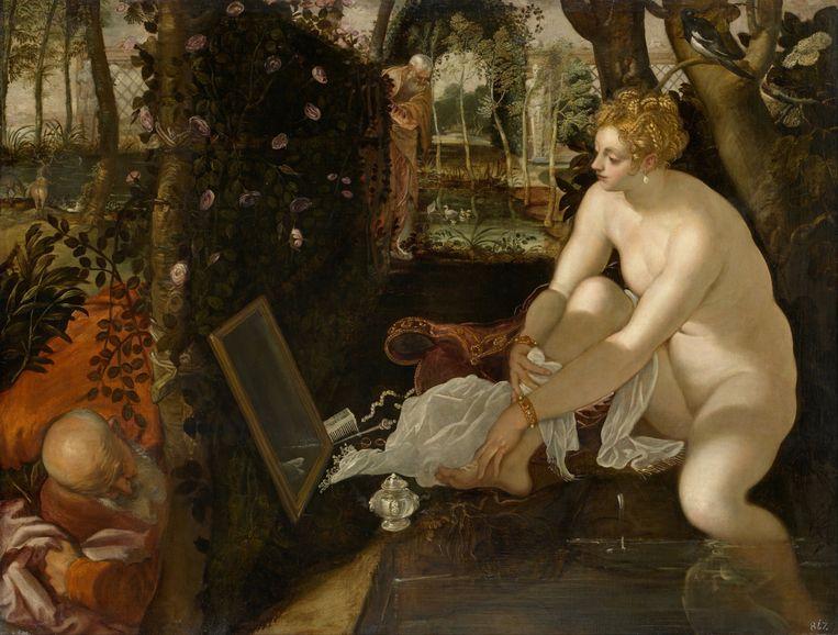 'Susanna en de ouderlingen' van Tintoretto. Beeld Belga