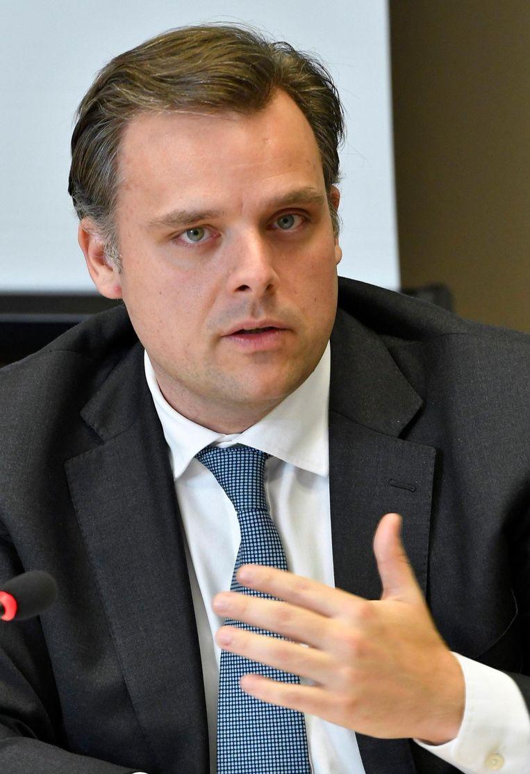 Staatssecretaris voor Privacy Philippe De Backer (Open Vld). Beeld Photo News