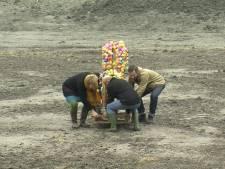 Badeendjes als kunstwerk terug in bouwput Middelburg (video)