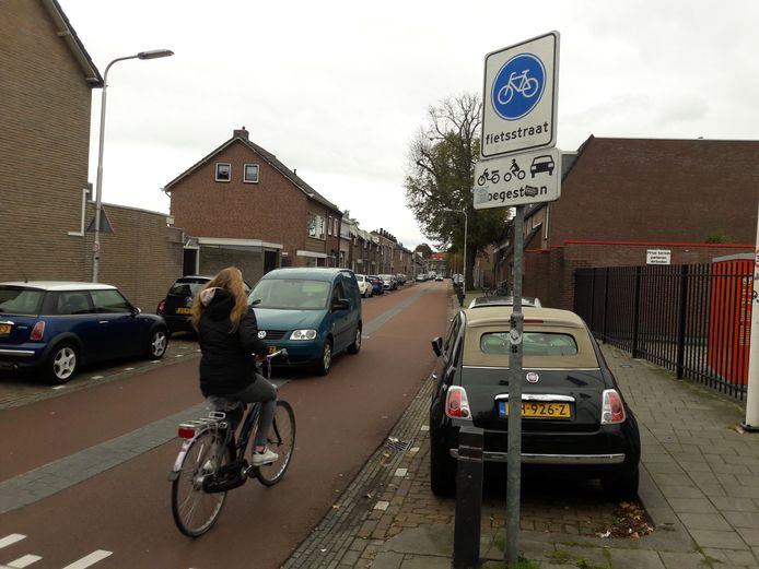 Met de auto de Trouwlaan in vanaf de Oerlesestraat. Straks ook nog toegestaan?
