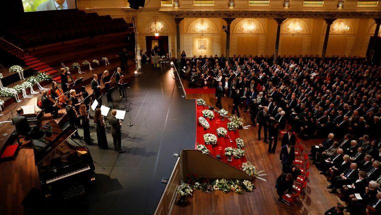 Herdenkingsbijeenkomst in het Concertgebouw voor Wim Kok Beeld ANP