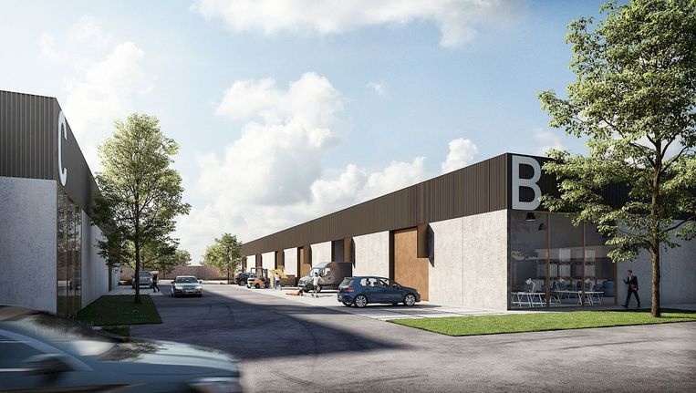 Een blik op het toekomstige business park BOXX, dat begin 2020 de eerste bedrijven verwelkomt