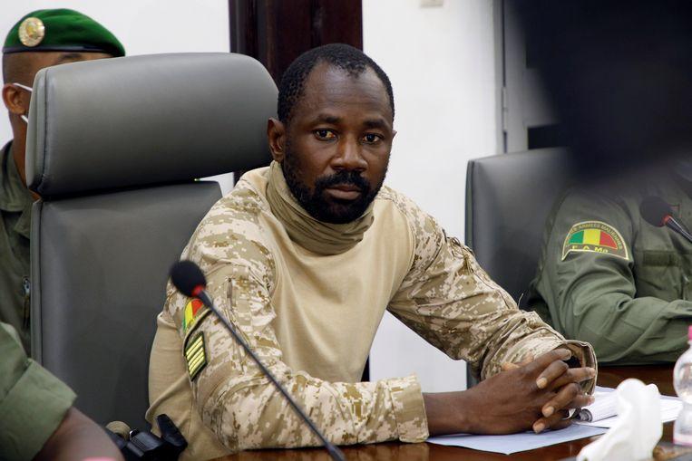 De Malinese kolonel Assimi Goita heeft zich vorige week uitgeroepen tot de leider van de militairen die president Ibrahim Boubacar Keïta hadden omvergeworpen. Beeld REUTERS