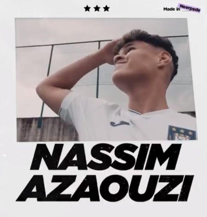 Nassim Azaouzi a signé son premier contrat avec le Sporting.