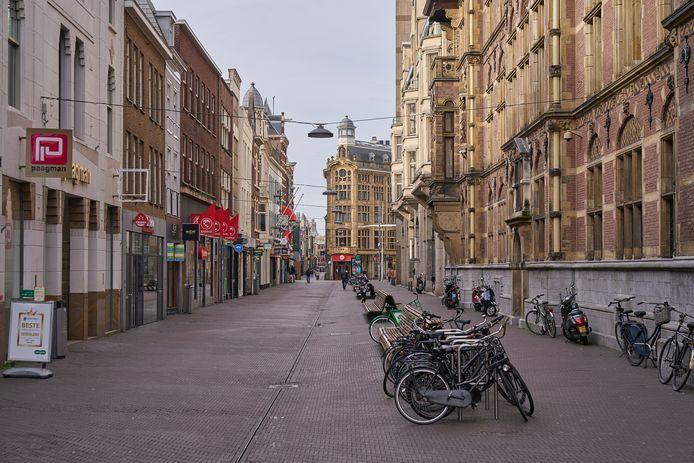 Het centrum van Den Haag na de coronamaatregelen.