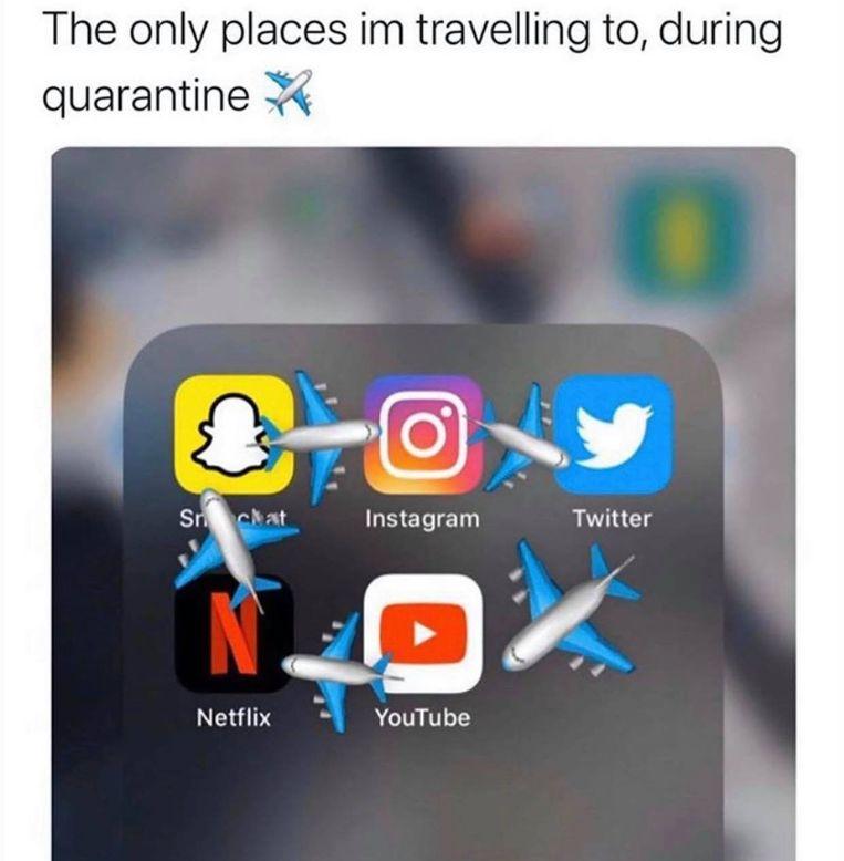 corona meme Beeld sociale media