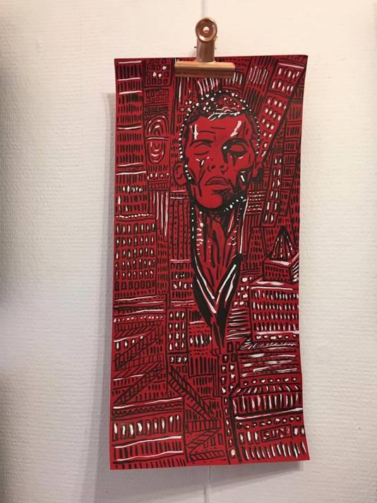 """Illustration d'Yves Budin, à la nouvelle librairie-galerie """"Les éditeurs"""", rue de Flandre"""