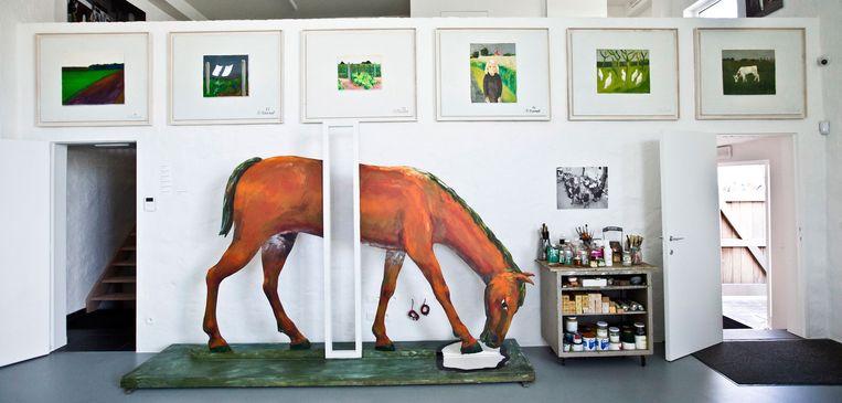 Het atelier van Roger Raveel. Beeld Jonas Lampens