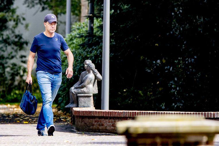 Demissionair premier Mark Rutte  arriveert bij het Catshuis.  Beeld ANP