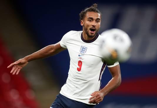 Dominic Calvert-Lewin bij zijn debuut voor Engeland gisteravond op Wembley. Wales werd met 3-0 verslagen.