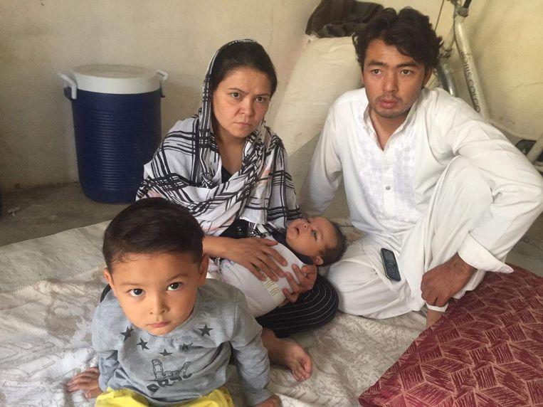 Rahima met haar man en kinderen.  Beeld Rahima