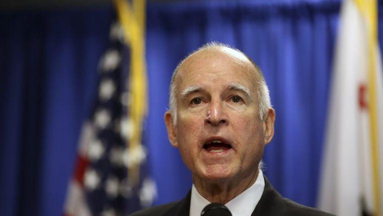 Gouverneur van Californië, Jerry Brown. Beeld REUTERS