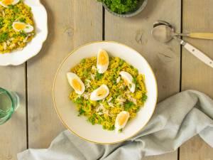 Wat Eten We Vandaag: Kruidige rijst met gerookte makreel