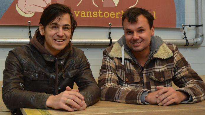 Eliël en Richard van Van Stoer Hout.