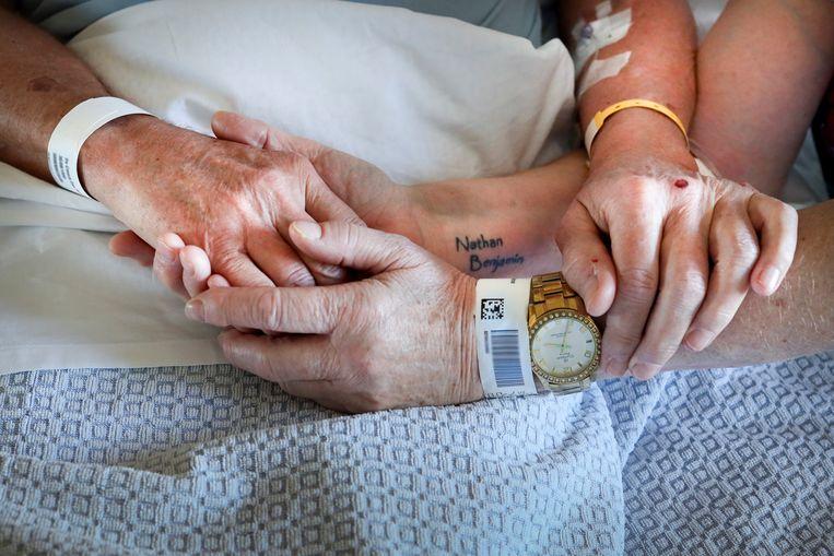 Danny (69) en Liliane (69), patiënten. Beeld Lieve Blancquaert