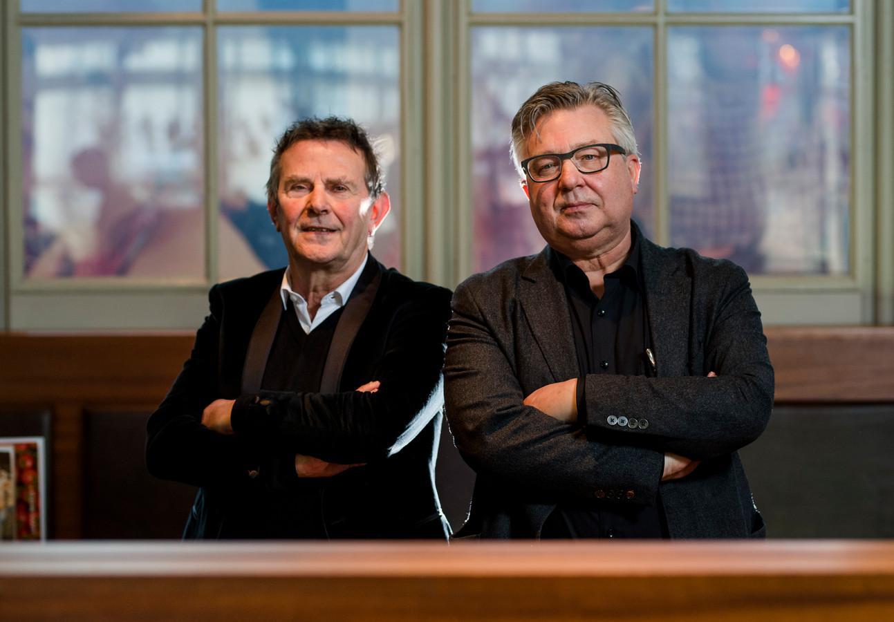 Pieter Tops (rechts) schreef samen met Jan Tromp het boek De Achterkant van Nederland.