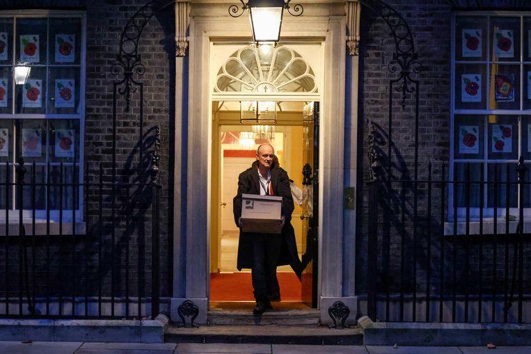 Dominic Cummings, vorig jaar opgestapt als adviseur van Boris Johnson, klapte waarschijnlijk uit de school. Beeld REUTERS