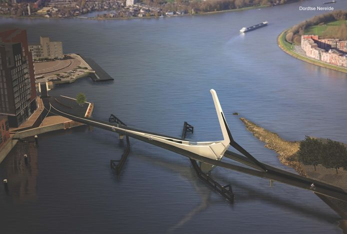 De brug lijkt volgens sommigen een beetje op de Rotterdamse Erasmusbrug.