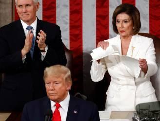Ongezien: Nancy Pelosi scheurt speech Trump in stukken na State of the Union