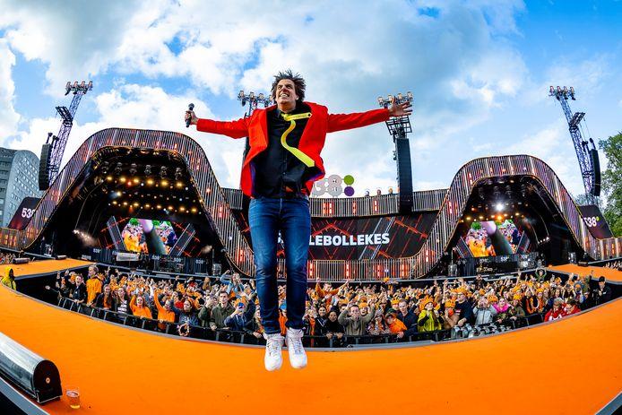 Snollebollekes op het Chasséveld tijdens 538 Koningsdag in 2019.