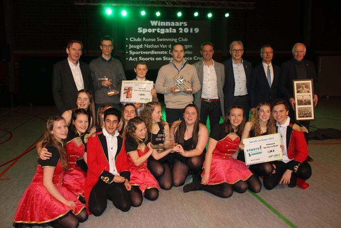 De winnaars van het sportgala in Ronse.