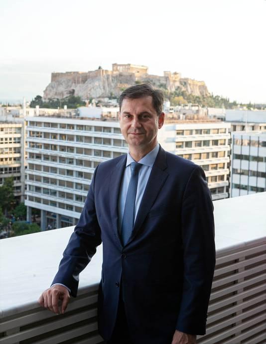 De Griekse minister van Toerisme, Haris Theocharis.