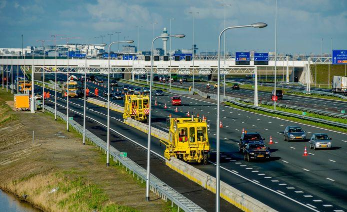 Werkzaamheden op de A4, foto ter illustratie