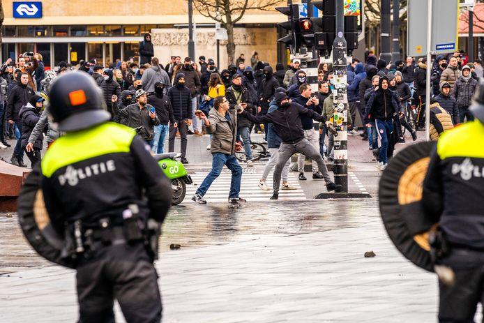 Rellen in Eindhoven op 24 januari