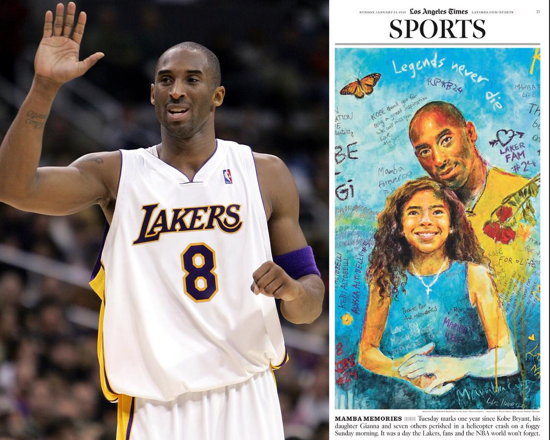 Kobe Bryant overleed een jaar geleden.