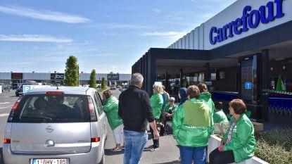 Personeel Carrefour legt werk neer