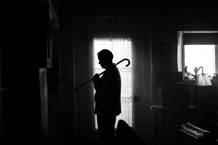 Gary Oldman als Herman Mankiewicz, de scenarioschrijver van Citizen Kane, in  Mank. Beeld AP