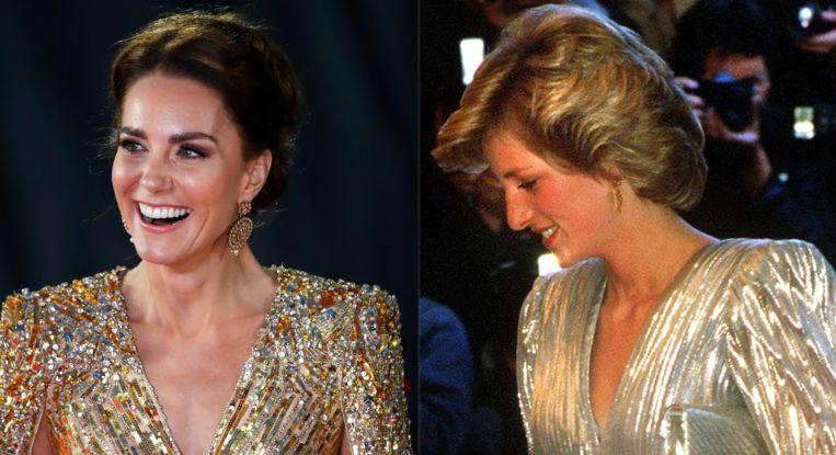Kate Middleton en prinses Diana Beeld Getty Images