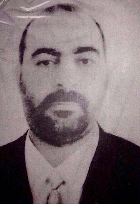 Een van de weinige geautoriseerde foto's van IS=leider Abu Bakr al-Baghdadi.