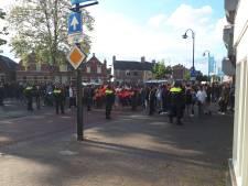 Tien mensen aangehouden bij afgebroken Pegida-demonstratie in Eindhoven, vier agenten lichtgewond