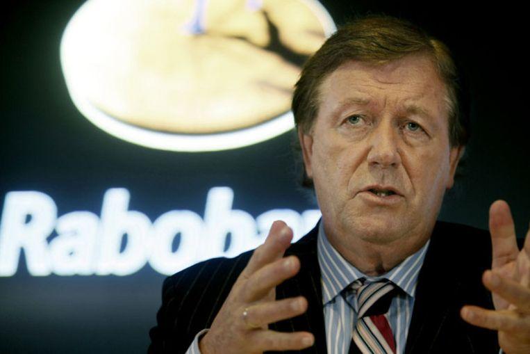 Bert Heemskerk, bestuursvoorzitter van Rabobank, geeft donderdag toelichting op de jaarcijfers over 2008 tijdens een persconferentie in Utrecht. Foto ANP Rick Nederstigt Beeld