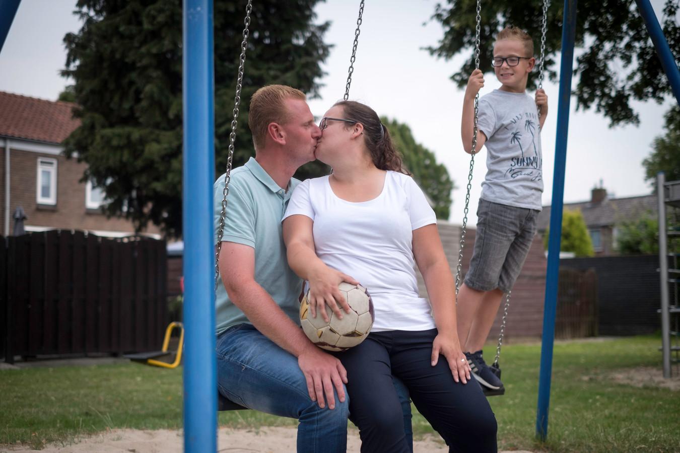 Danny en Angela Pultrum en zoon Damian