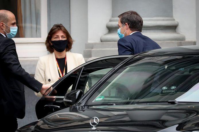 De Belgische premier De Croo arriveerde eerder vandaag bij het overleg over de verstrengde maatregelen.