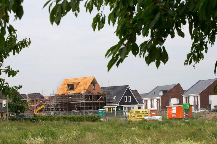 Nieuwbouwwijk Groot Holthuizen in aanbouw. Archieffoto Theo Kock.