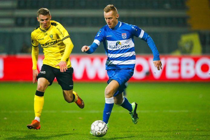 Mike van Duinen begon tegen VVV-Venlo voor de tweede keer dit seizoen als diepe spits, maar ook hij kon in Limburg niet het verschil maken.
