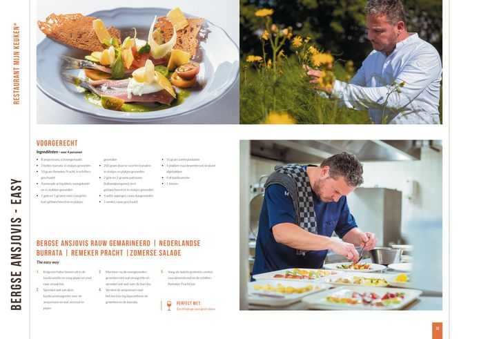 Bergse ansjovis 'The easy way', een recept van chef Pieter Bosters van restaurant Mijn Keuken in Wouw.