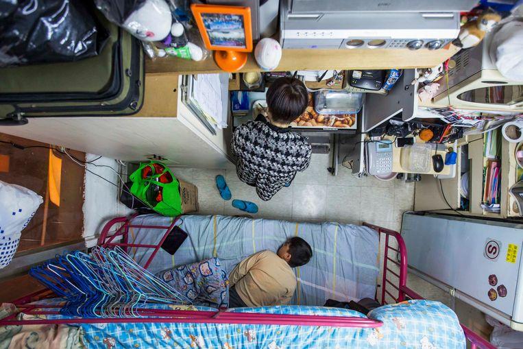 Piepkleine studio's zijn in Hongkong meer regel dan uitzondering.