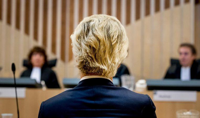 Wilders verscheen in september nog in de rechtszaal. Beeld null